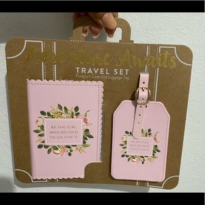 Beautiful Passport Case And Luggage Tag Set